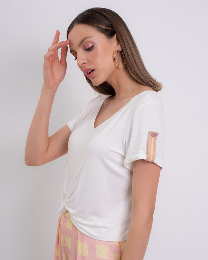 Blusa Richini Cropped Martingale