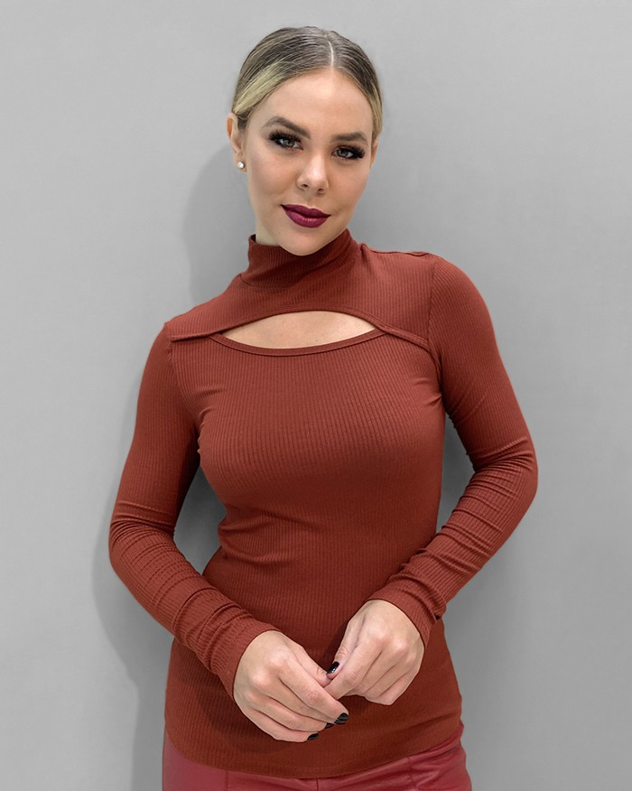 Blusa Richini Malha Decote Vazado