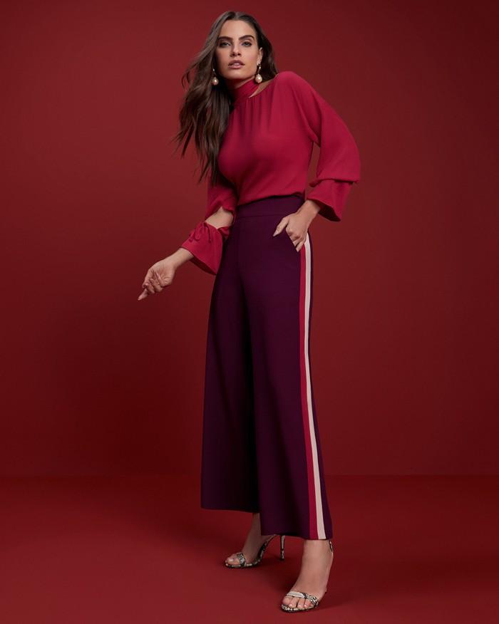 Calça Richini Pantalona Detalhe Lateral