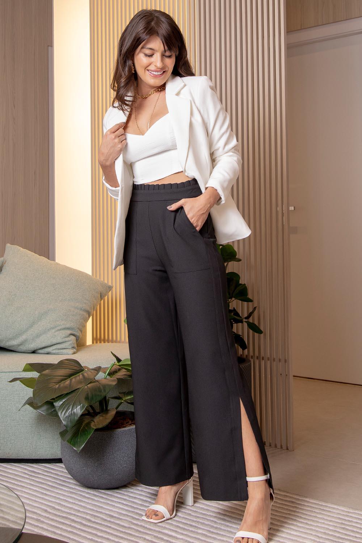 Calça Richini Pantalona Abertura