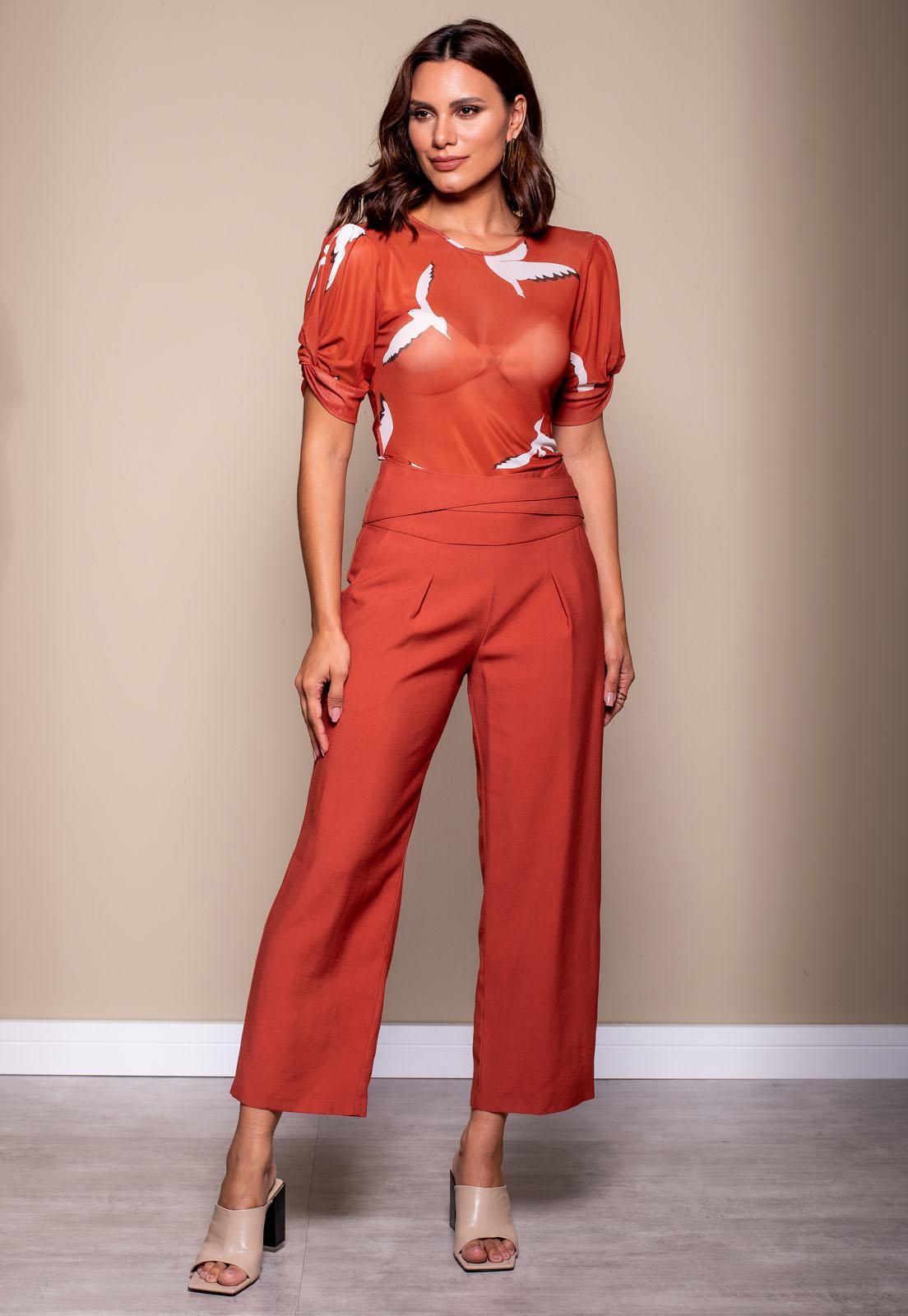 Calça Richini Pantalona Cós Estilizado