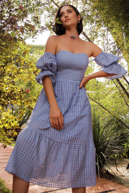 Vestido Richini Midi Laise
