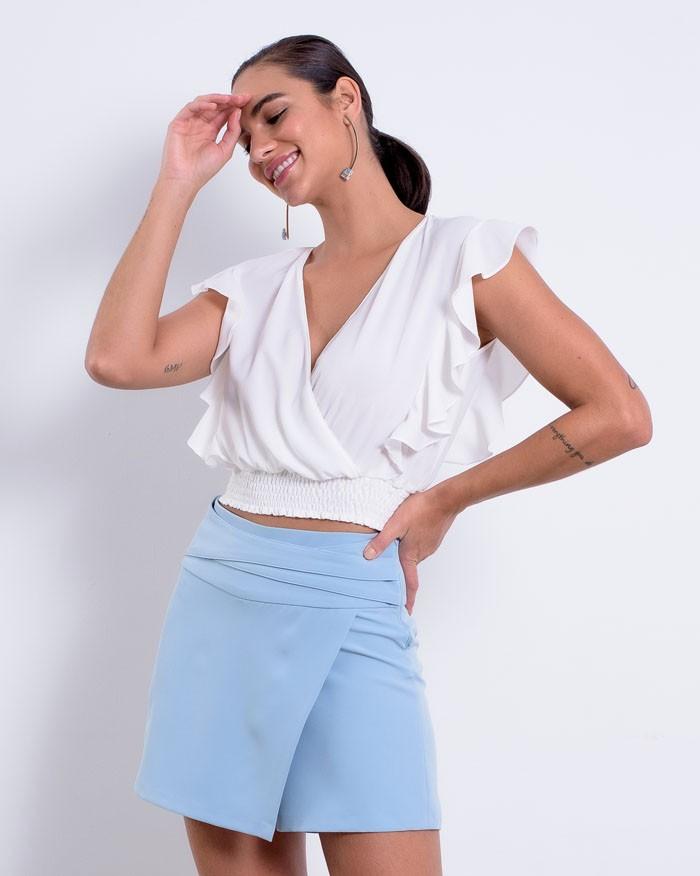 Shorts Saia Richini Recortes no Cós