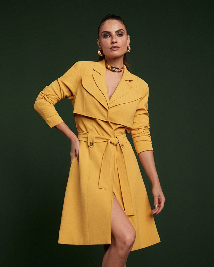Trench Coat Richini Gola Dupla