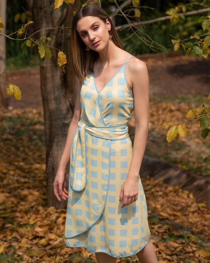 Vestido Richini Cachequer Estampado
