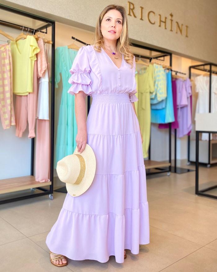 Vestido Richini Longo Camponesa
