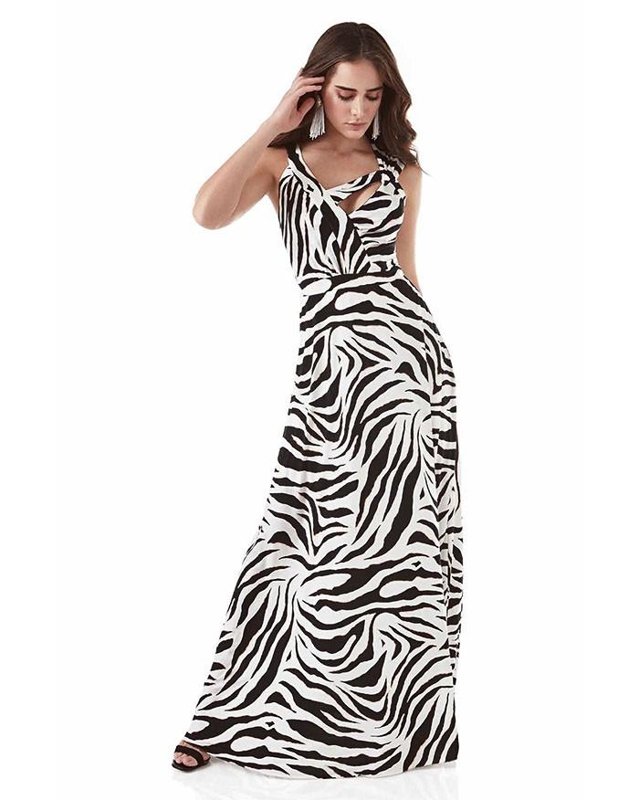 Vestido Richini Longo Estampado