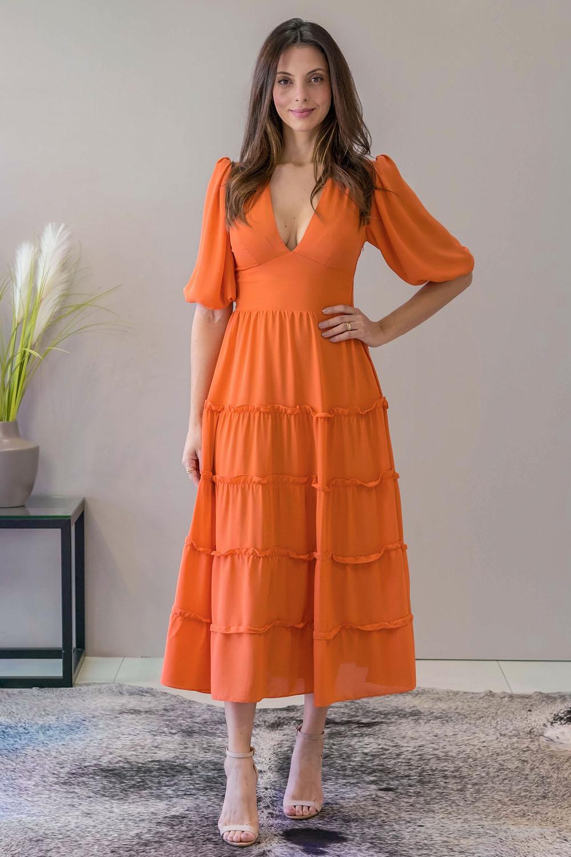 Vestido Richini Longuete Chiffon