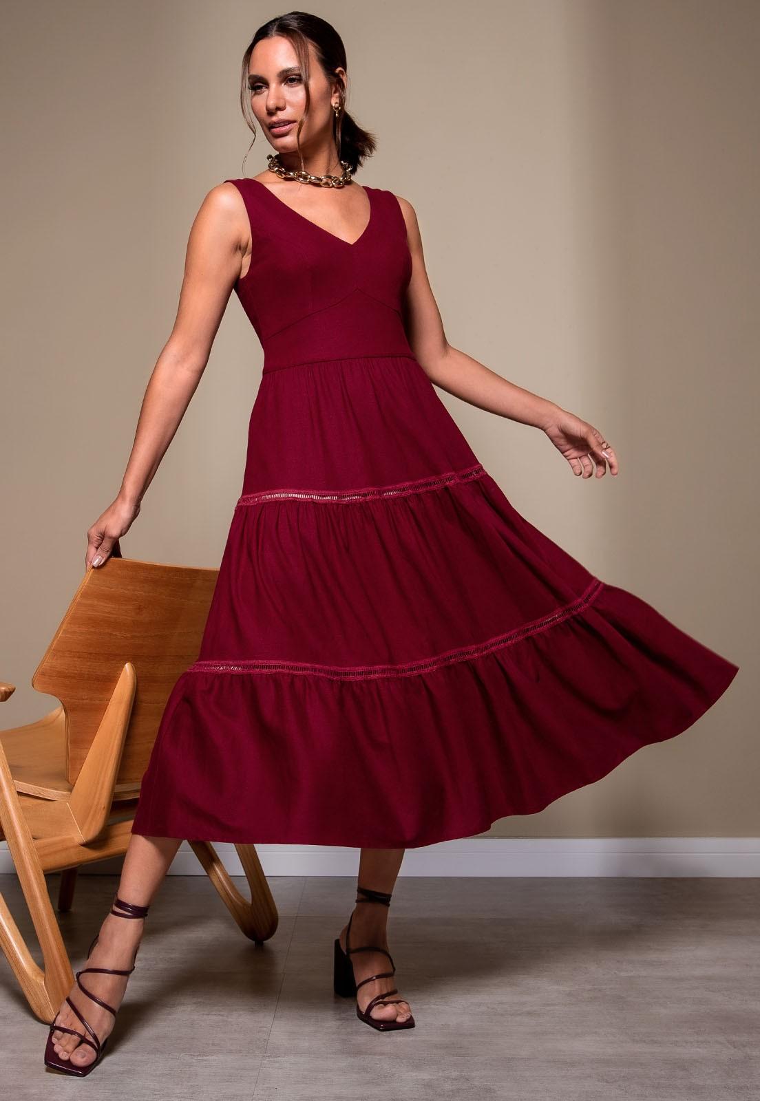 Vestido Richini Midi Linho