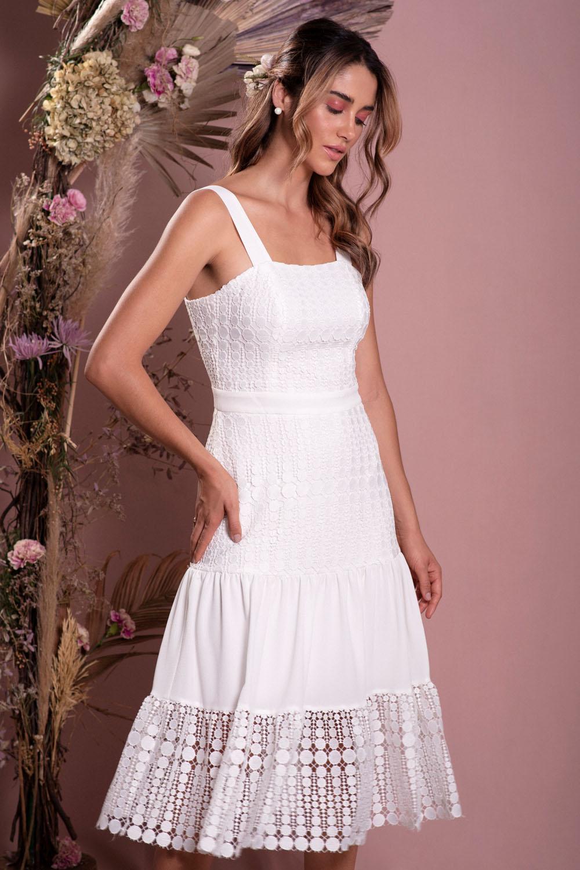 Vestido Richini Midi Renda