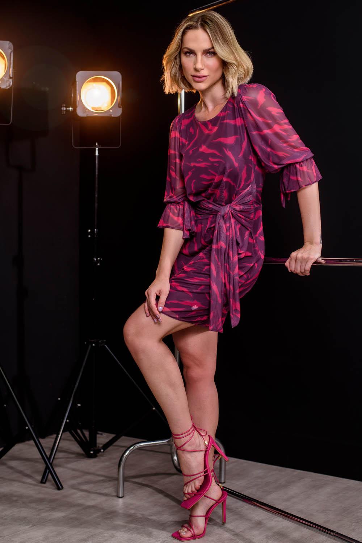 Vestido Richini Tule Amarração