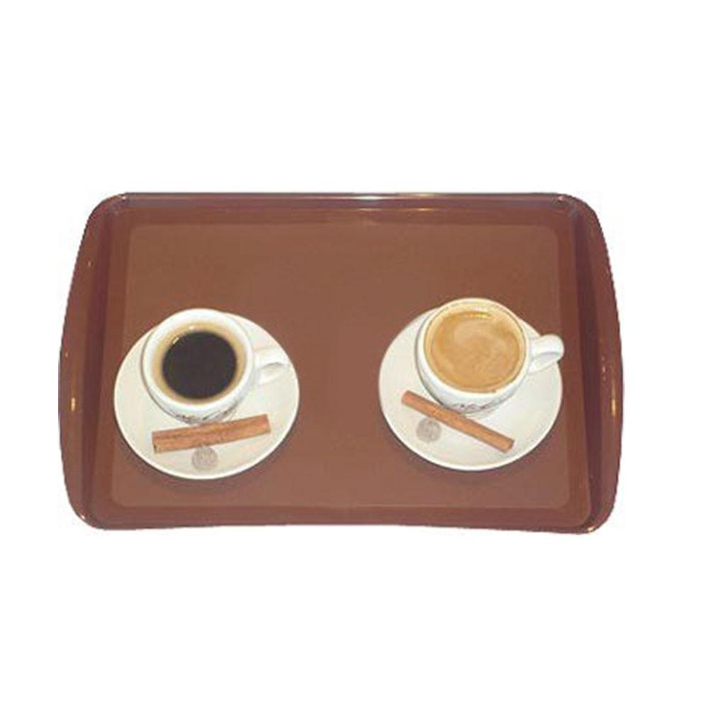 Bandeja Plástica Retangular Cafe - Supercron