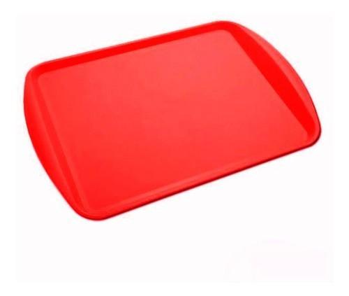 Bandeja Retangular Vermelha Plástico 44x31 Supercron