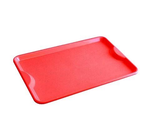 Bandeja Retangular Vermelha Plástico 48x34 Supercron
