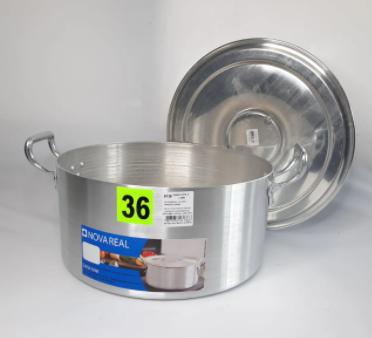Cacarola De Aluminio 36Cm Profissional 16,3L Nova Real