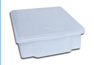 caixa com tampa 11 litros  supercron s-450