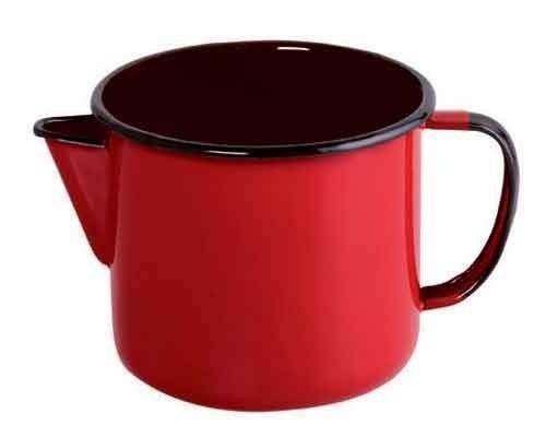 Caneca esmaltada com bico N°12 Ewel-Vermelho