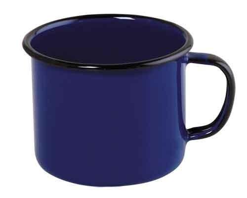 Caneca esmaltada Nº10 Ewel - Azul
