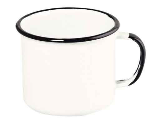 Caneca esmaltada Nº10 Ewel - Branco