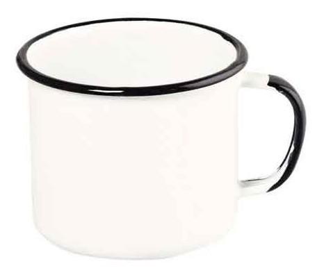 Caneca esmaltada Nº8 Ewel - Branco