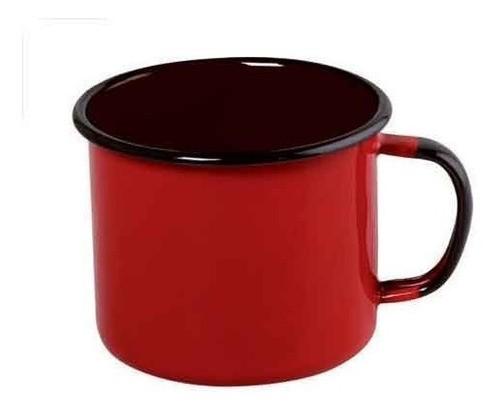 Caneca esmaltada Nº8 Ewel - Vermelho