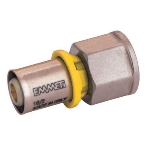 Conector Pex Emmeti 3/4 Fêmea x 20mm prensar