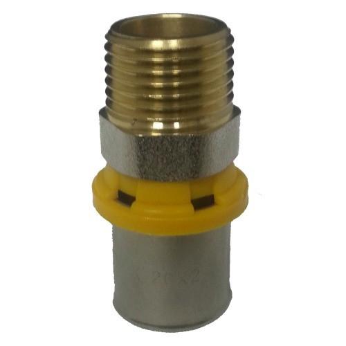conector pex emmeti 3/4M x 26mm prensar