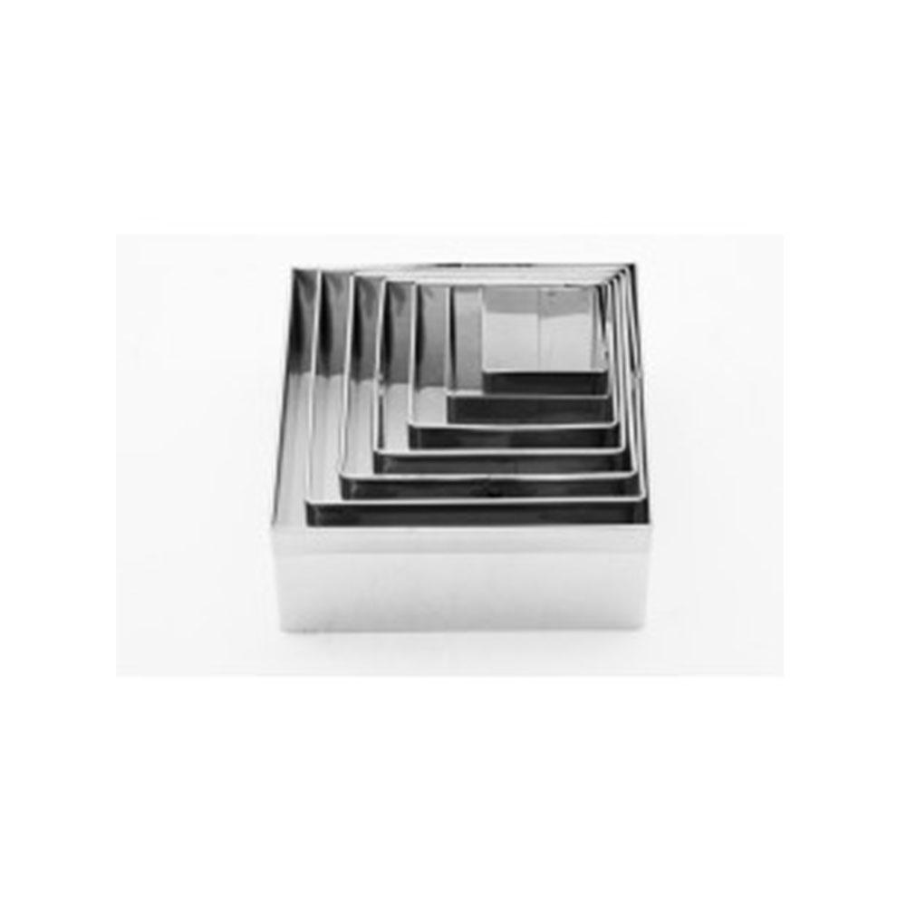 Cortador de Inox Quadrado Liso com 07 peças Caparroz
