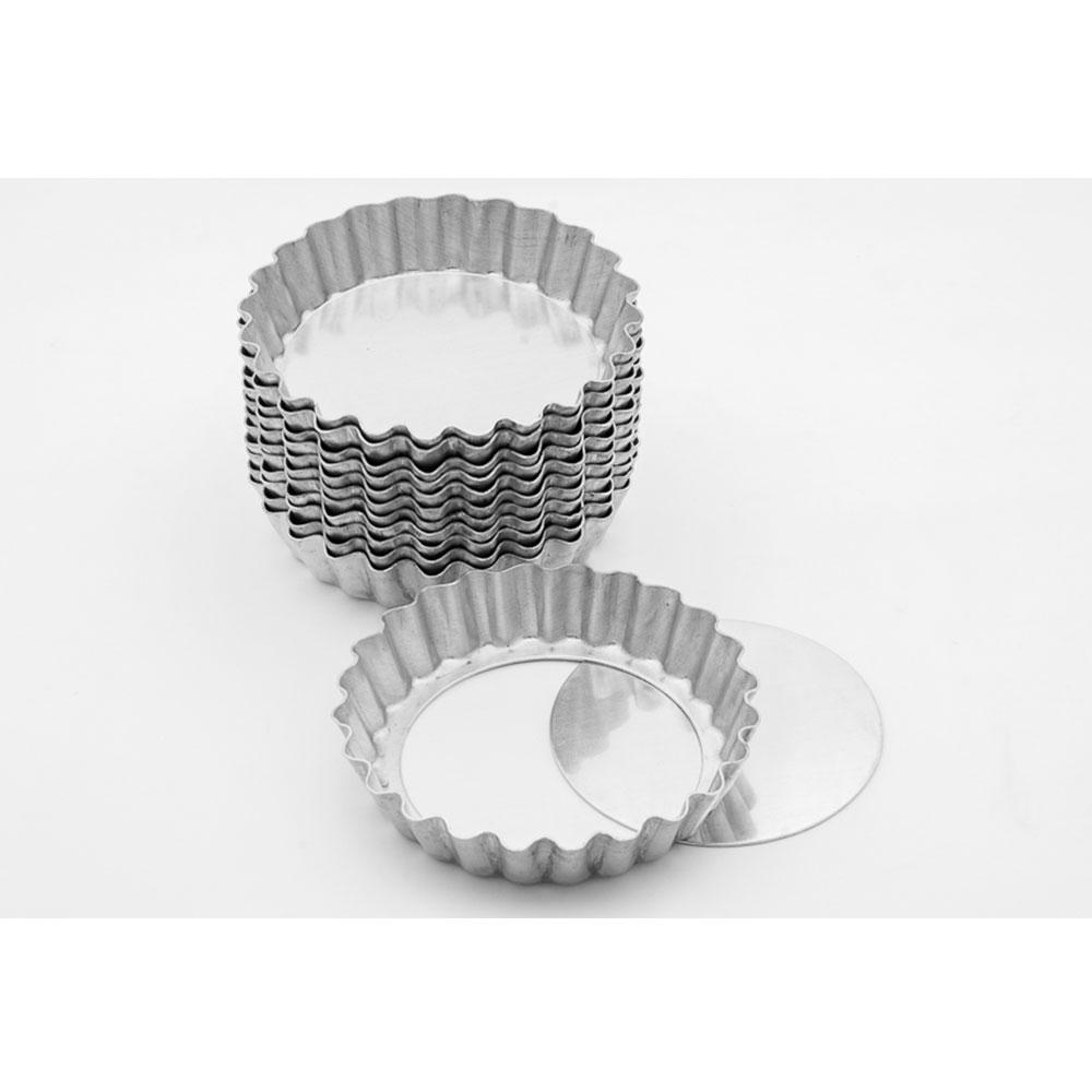 Forma Aluminio Torta de Maçã N 7 Fundo Movel 12unid Caparroz