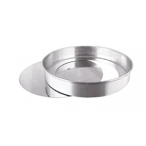 Forma de Alumínio Redonda com Fundo Falso 23x7cm Caparroz