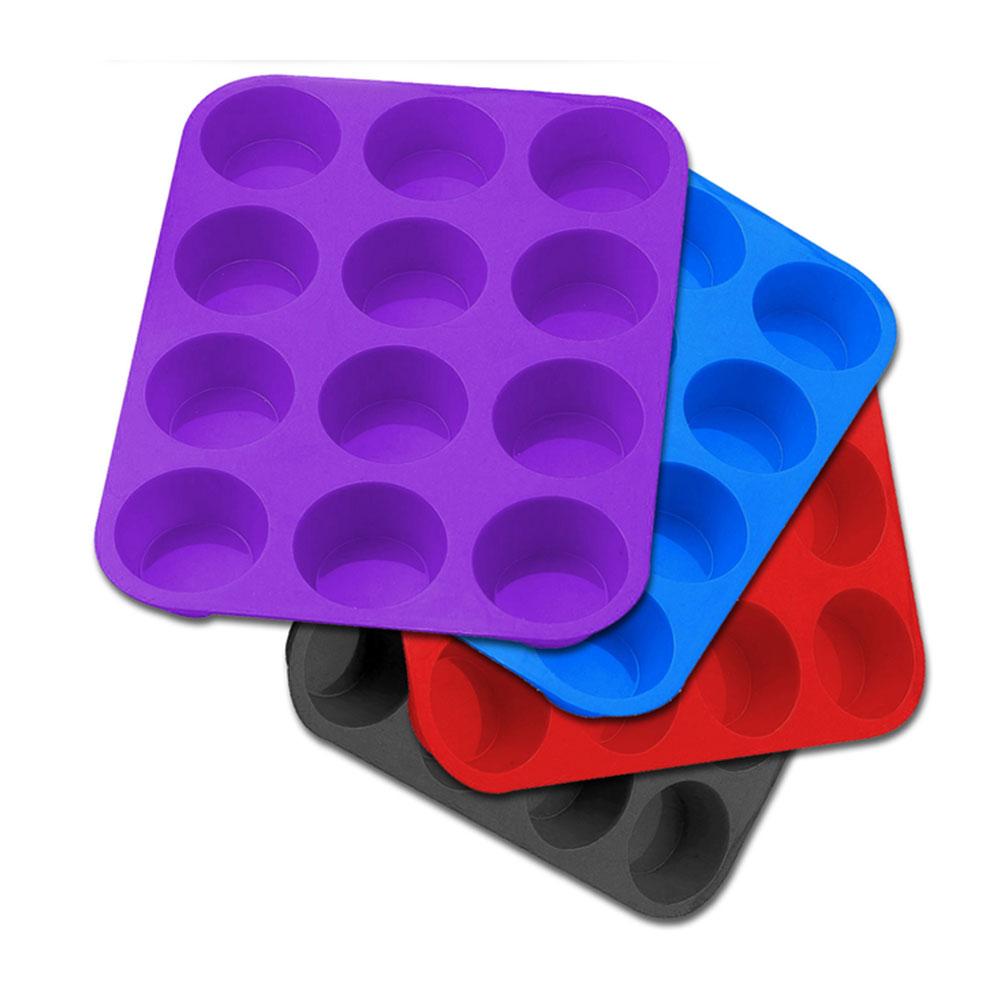 Forma de silicone de cupcake 12 unidades Kehome