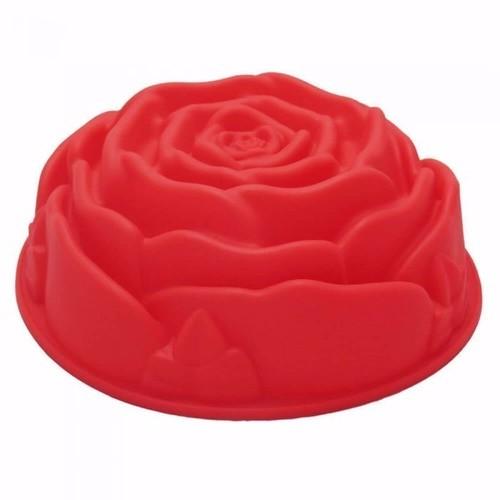 Forma de Silicone Rosa Redonda Cores Kehome