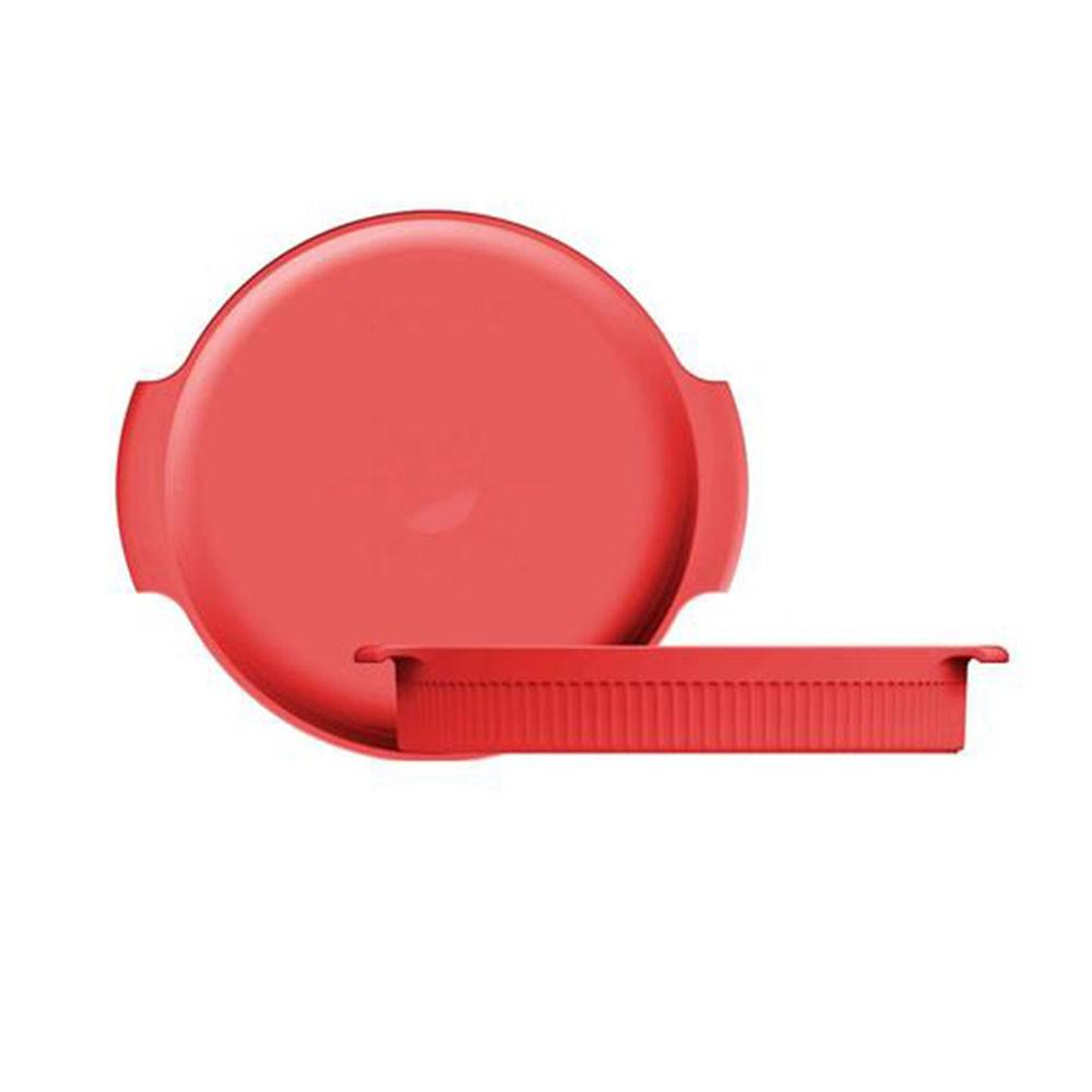 Forma Louça Redonda 25cm Vermelha Germer