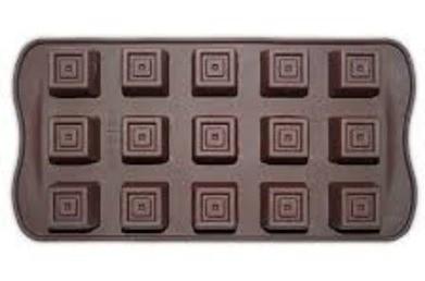 Forma para Chocolate Para 15 Chocolates Quadrados Kehome