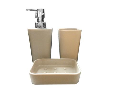 Jogo Banheiro Plástico 3Pçs Casita