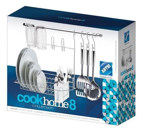 Kit Cook Home Cromado 8 Arthi