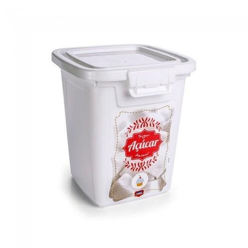 Porta Açúcar Plástico 1,8Lts Vintage Plasutil