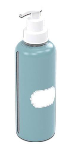 Porta Alcool Gel Plástico Decorado Para Escrever 480ml Plasu