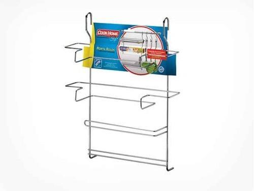 Porta Rolos de parede cromado 3x1 Cook Home Arthi