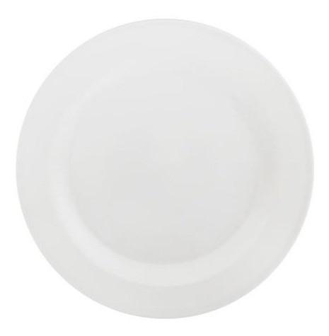 Prato de Melamina Raso Liso Branco 28cm - Riochens