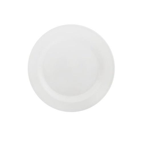 Prato de Melamina Sobremesa Liso Branco 18cm - Riochens