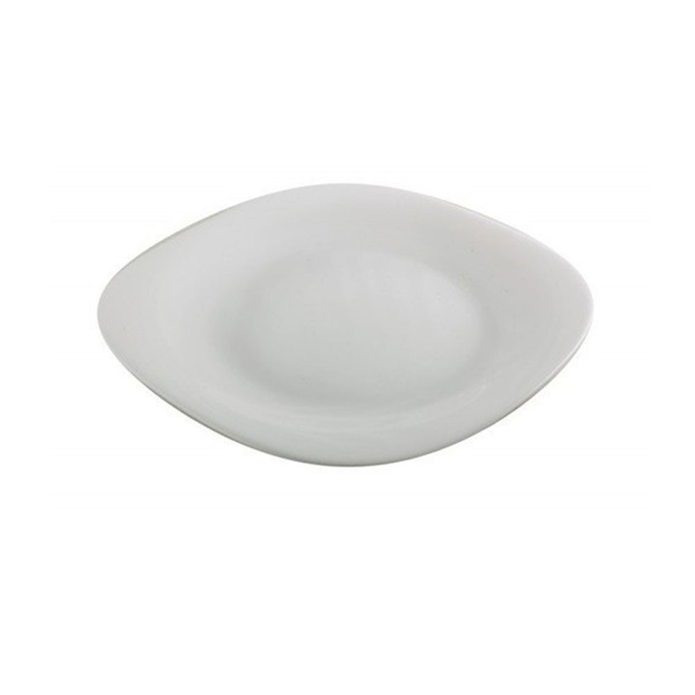 Prato Louça Sobremesa 20cm Quadrado Chefline