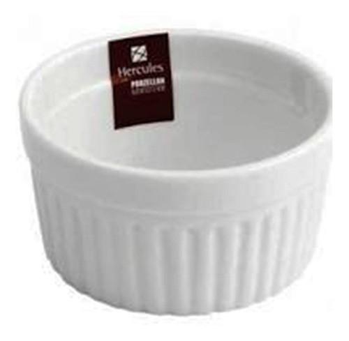 Ramekim De Porcelana Médio 8.8 X 4.5 Cm Bco Porzzelan Hercu