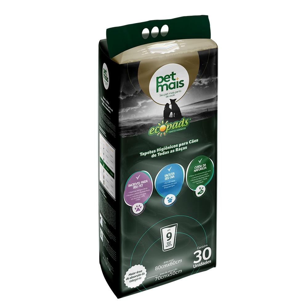 Tapete Higiênico Ecopads 80x60 30 unidades Petmais