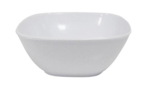 Tigela Quadrada de Melamina Branca 15cm Util Goods