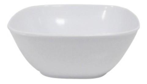 Tigela Quadrada de Melamina Branca 18cm Util Goods