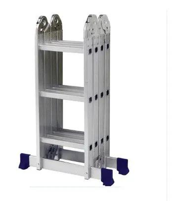 Escada Aluminio Multifuncional Plataforma 4x3 12 Degraus Mor/ ref 12721
