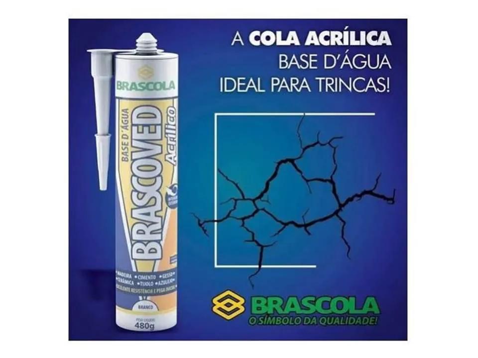 Kit Adesivo Selador De Trincas 450g Brascola 6 Und  / ref 50417