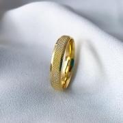 Aliança Nova York Banhada 5mm (Sem Pedra)