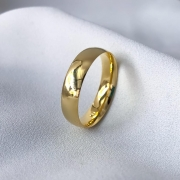 Aliança Tradicional Banhada 5mm (Sem Pedra)